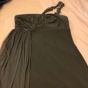 Black One Strap Cocktail Dress